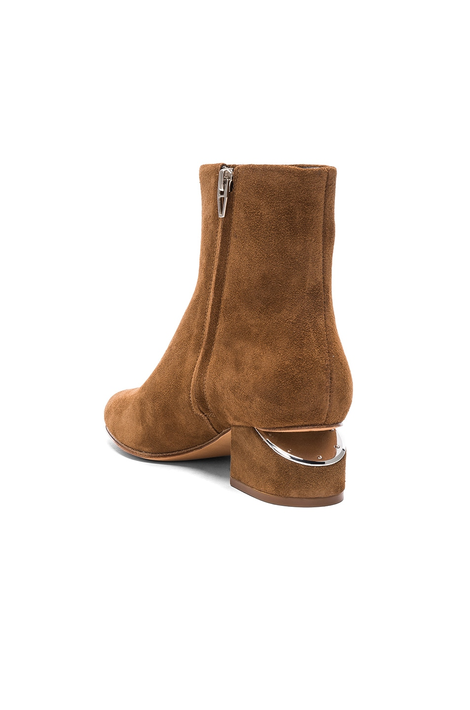 Image 3 of Alexander Wang Suede Kelly Boots in Dark Truffle