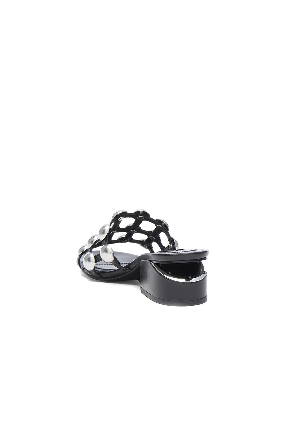 Image 3 of Alexander Wang Dome Stud Leather Lou Slides in Black