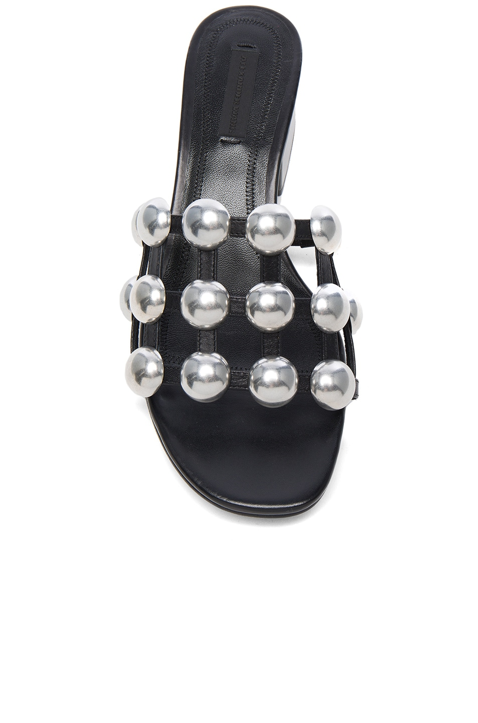 Image 4 of Alexander Wang Dome Stud Leather Lou Slides in Black