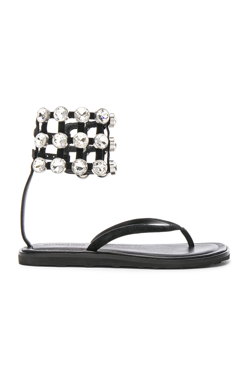 Image 1 of Alexander Wang Suede Aubrey Sandals in Black