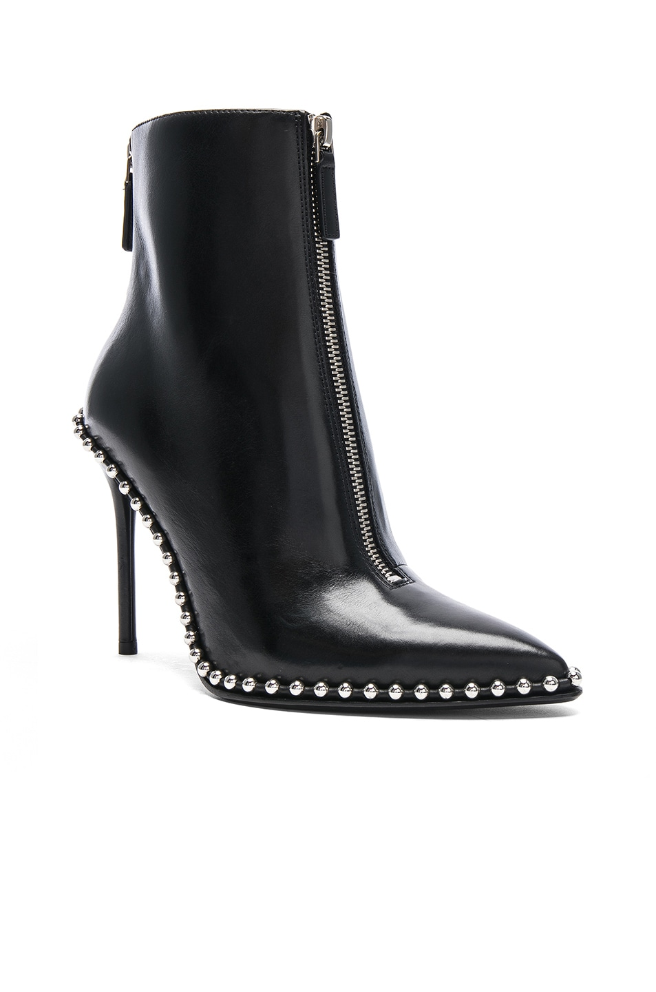 Image 2 of Alexander Wang Leather Eri Boots in Black