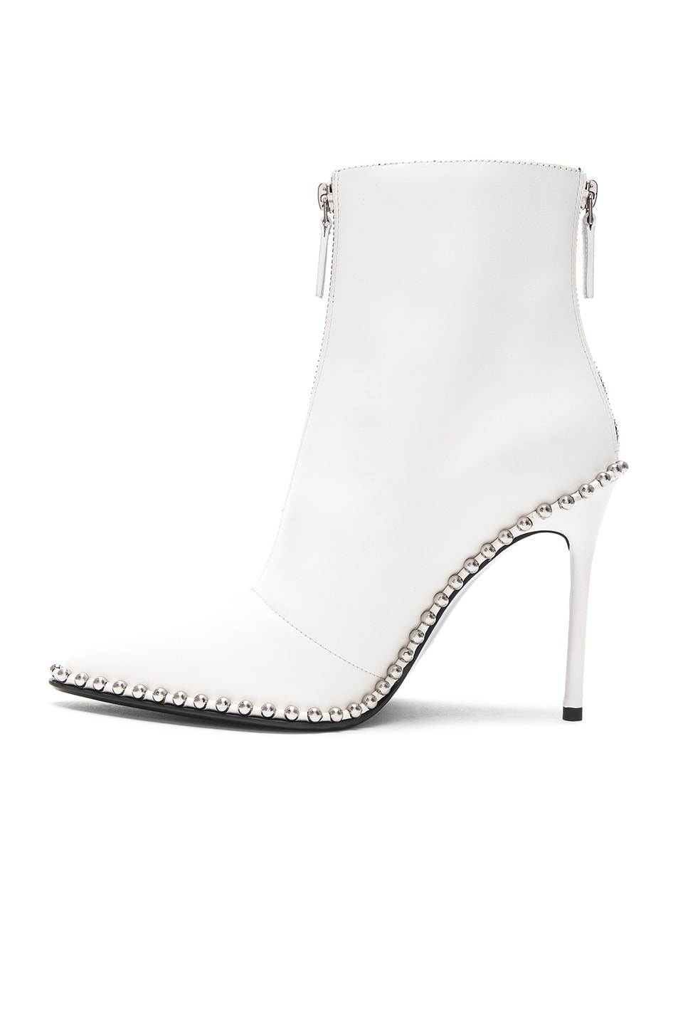 Image 5 of Alexander Wang Leather Eri Boots in Milk