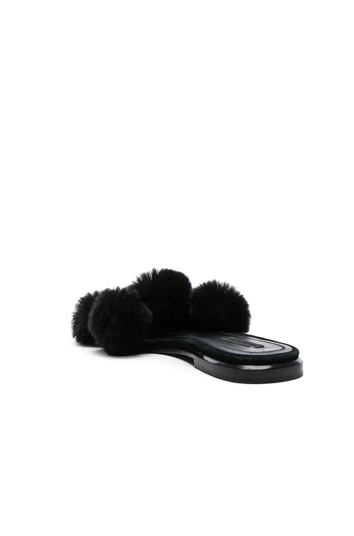 Image 3 of Alexander Wang Ava Rabbit Fur Sandals in Black