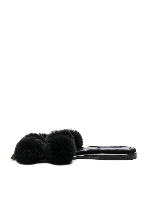 Image 5 of Alexander Wang Ava Rabbit Fur Sandals in Black