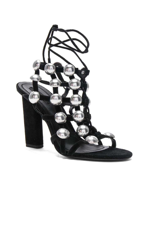 Image 2 of Alexander Wang Suede Rubie Sandals in Black