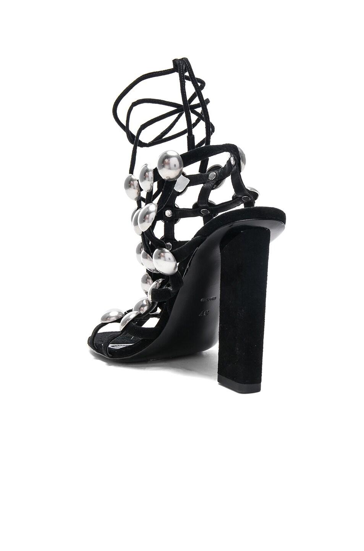 Image 3 of Alexander Wang Suede Rubie Sandals in Black