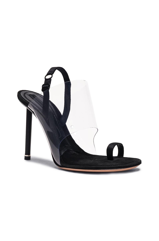 Image 2 of Alexander Wang PVC Kaia Heels in Black