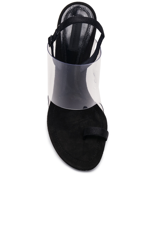 Image 4 of Alexander Wang PVC Kaia Heels in Black