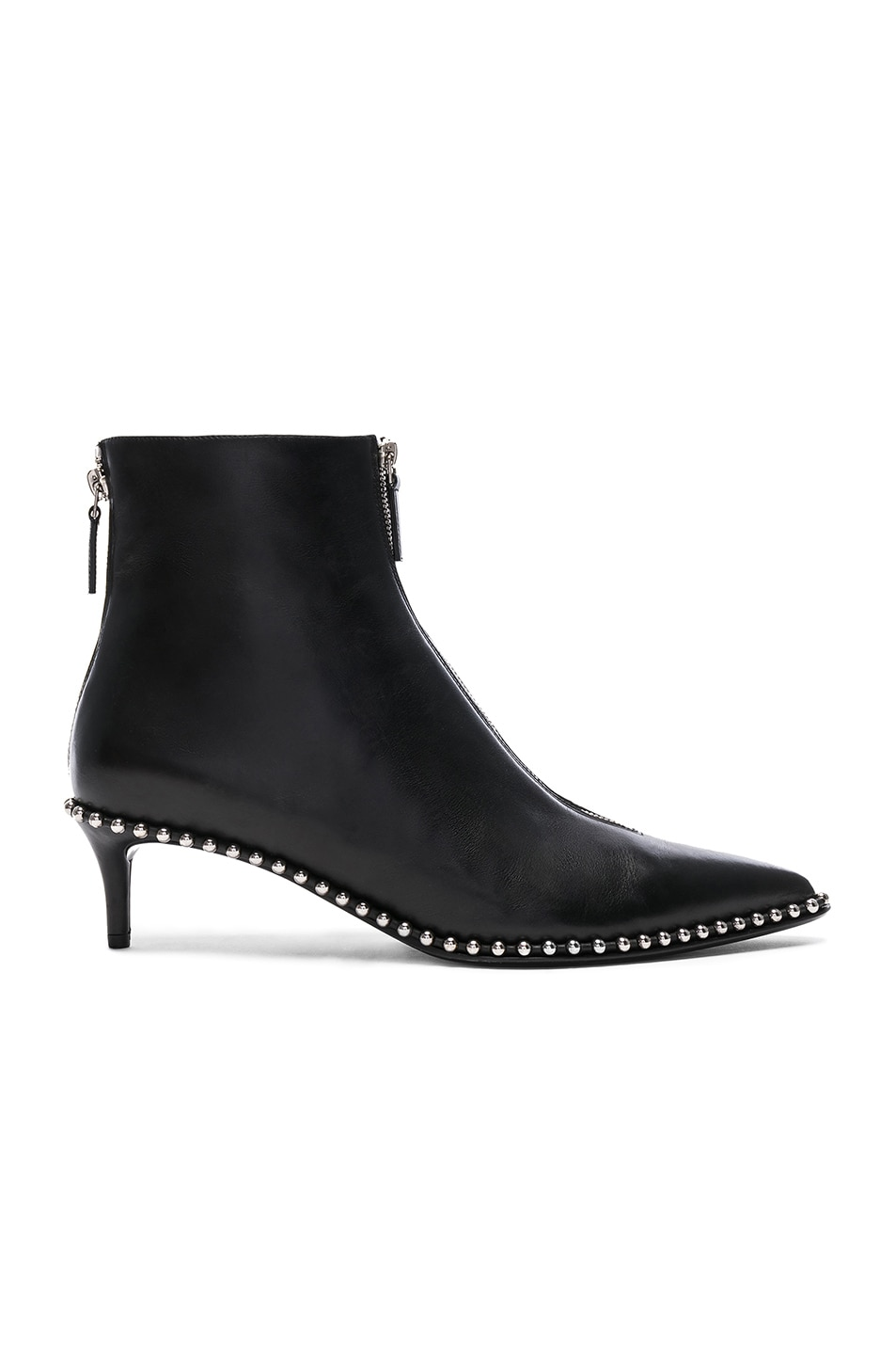 Image 1 of Alexander Wang Leather Eri Low Boots in Black