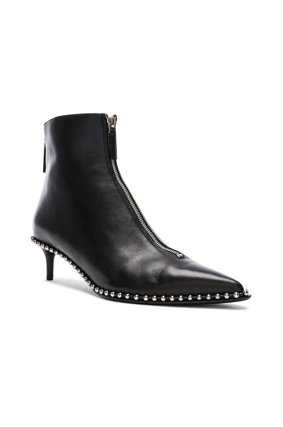 Image 2 of Alexander Wang Leather Eri Low Boots in Black