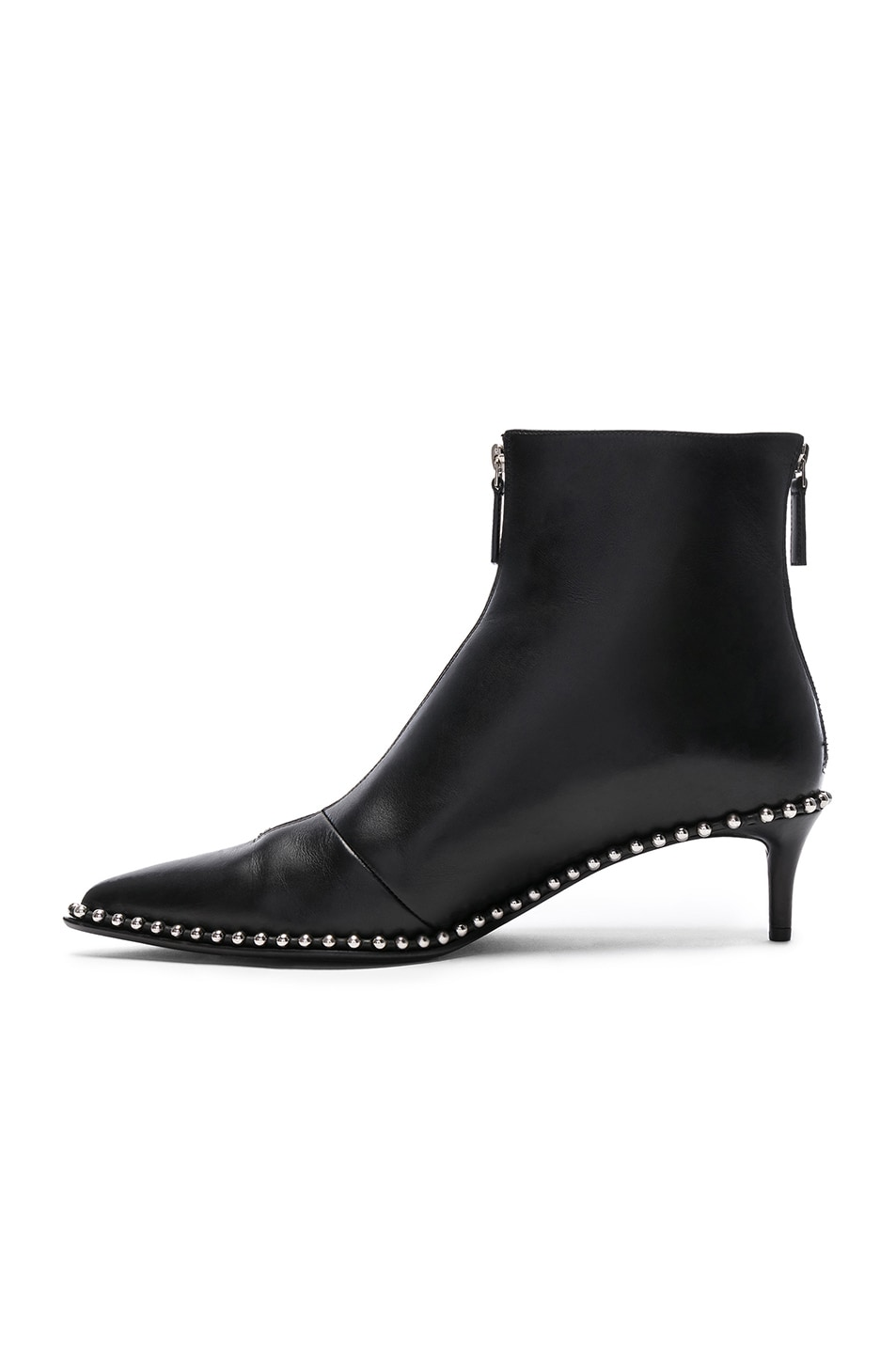 Image 5 of Alexander Wang Leather Eri Low Boots in Black