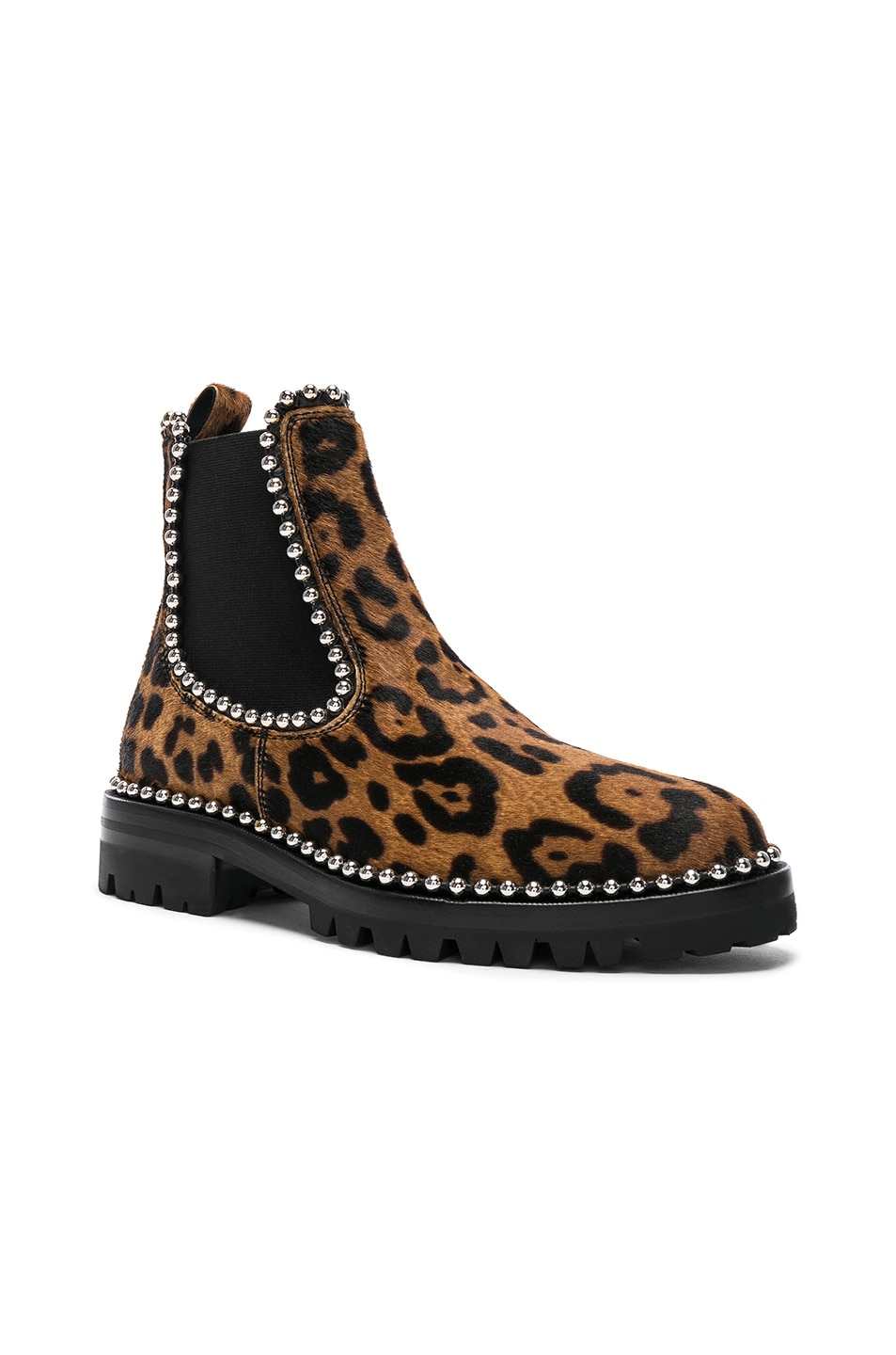 728f86fa06de Image 2 of Alexander Wang Printed Calf Hair Spencer Boots in Leopard