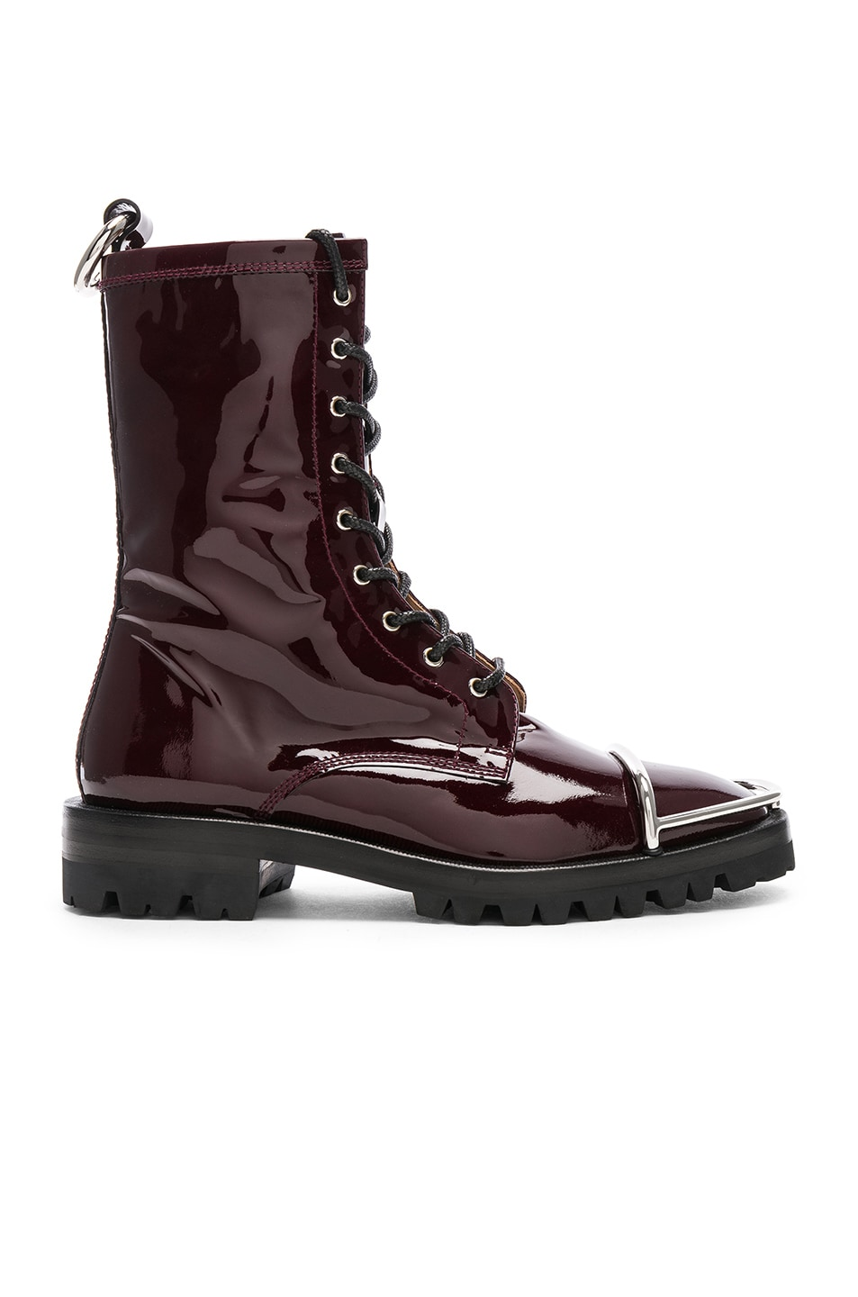 Image 1 of Alexander Wang Kennah Patent Boot in Oxblood