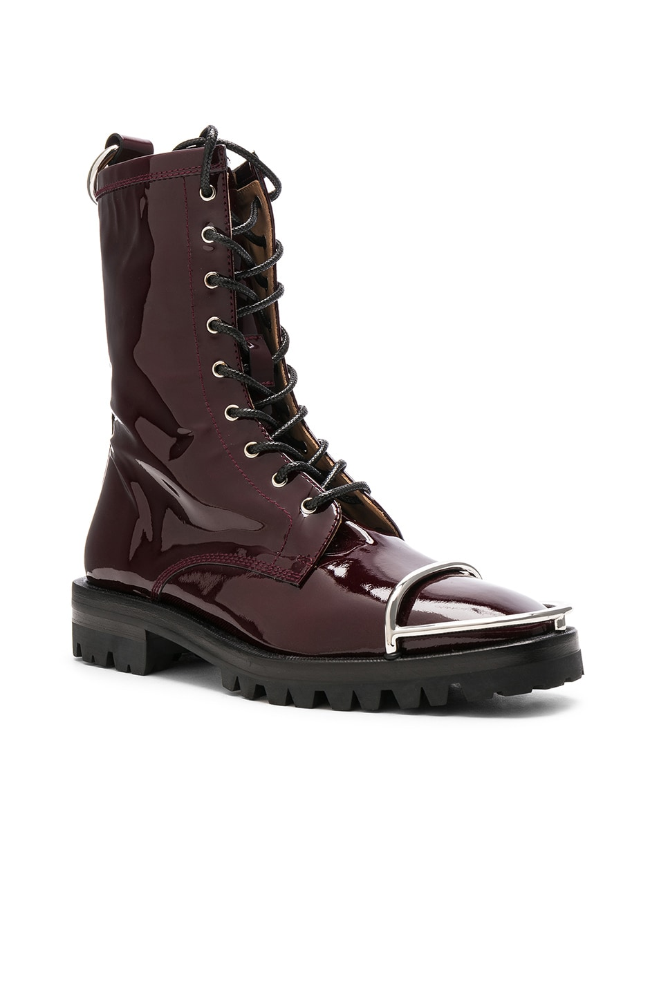 Image 2 of Alexander Wang Kennah Patent Boot in Oxblood