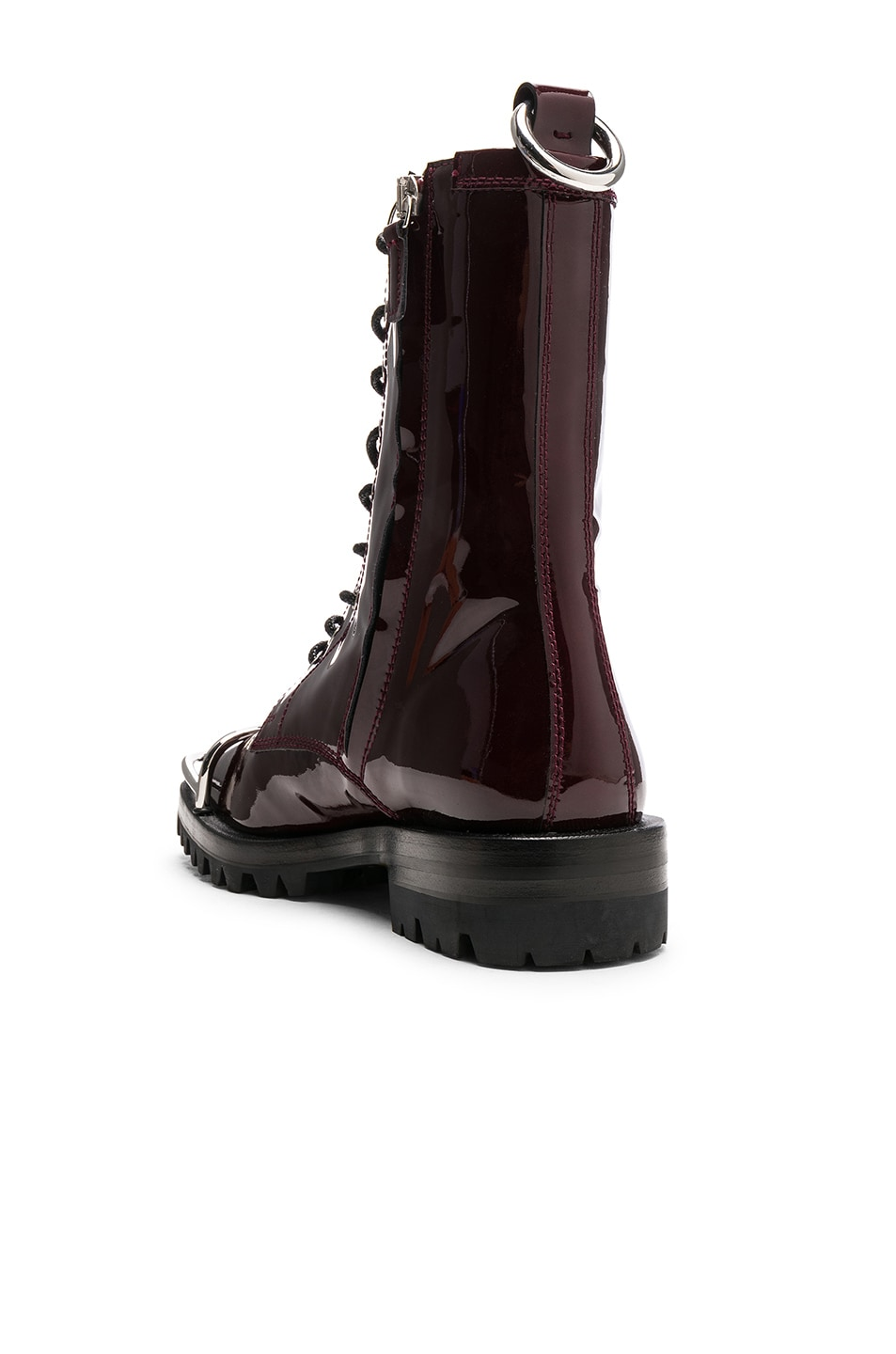Image 3 of Alexander Wang Kennah Patent Boot in Oxblood