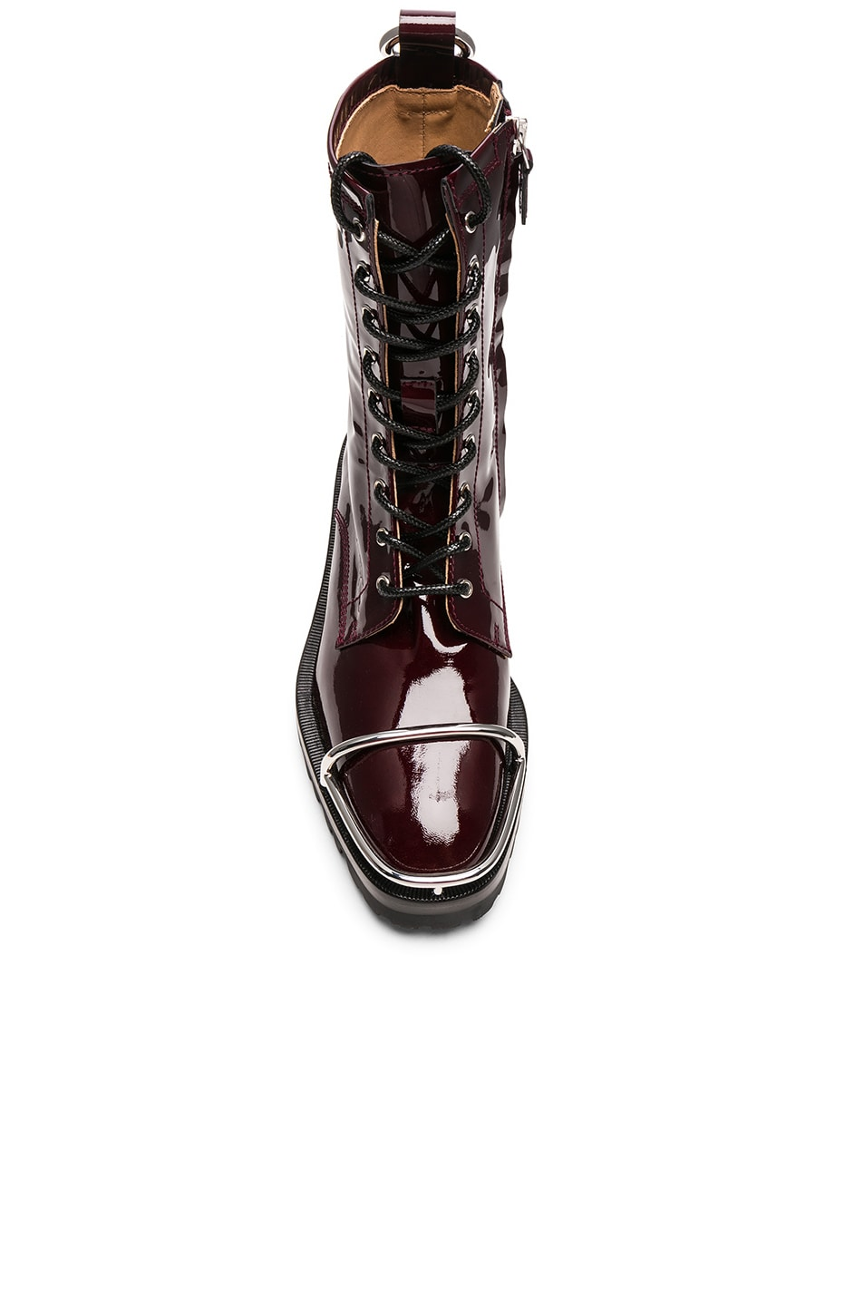 Image 4 of Alexander Wang Kennah Patent Boot in Oxblood
