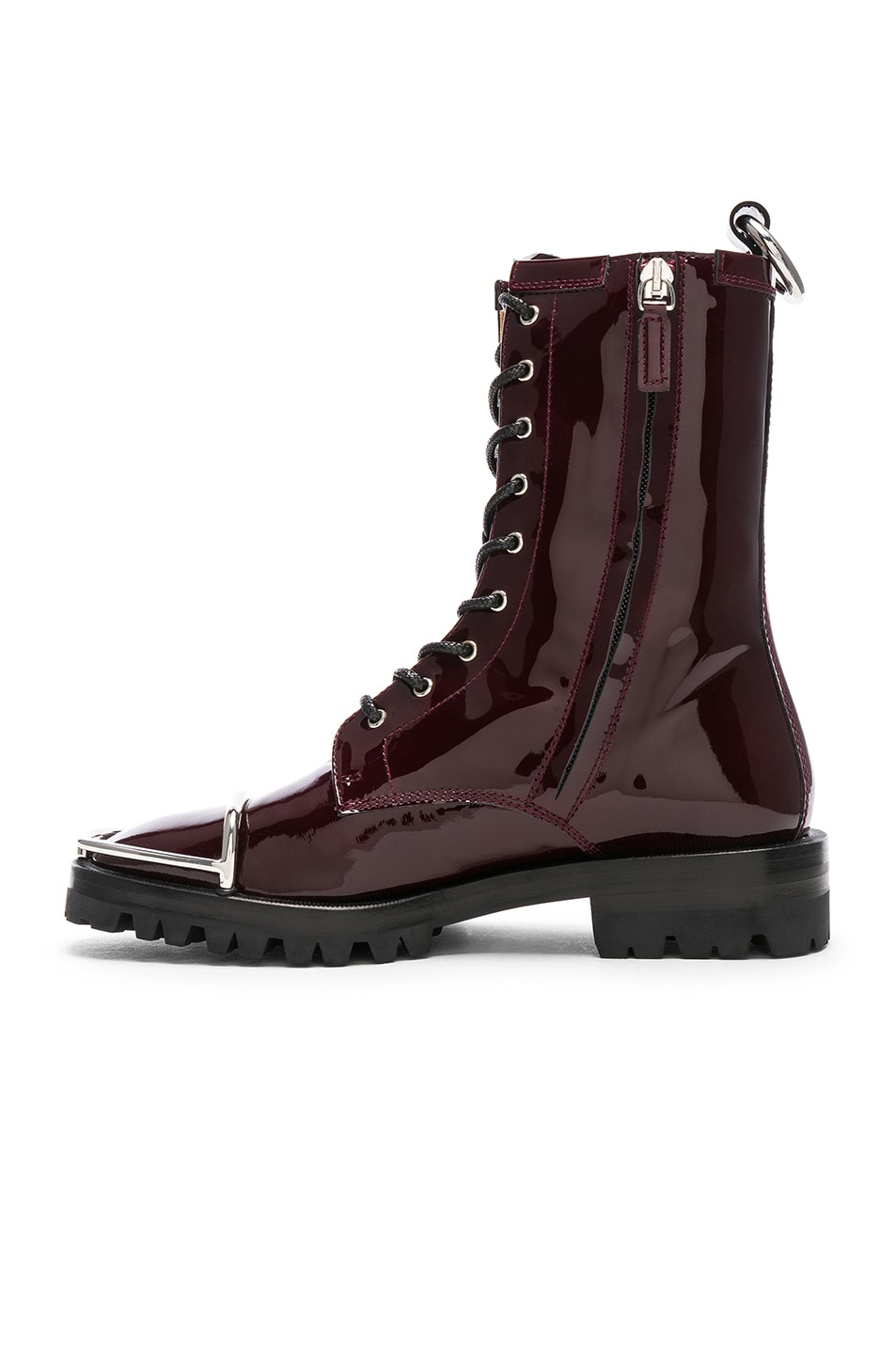 Image 5 of Alexander Wang Kennah Patent Boot in Oxblood
