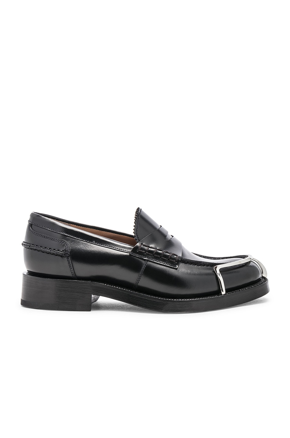 Image 1 of Alexander Wang Carter Spazzolato Loafer in Black