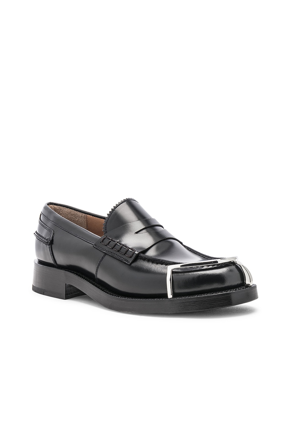 Image 2 of Alexander Wang Carter Spazzolato Loafer in Black