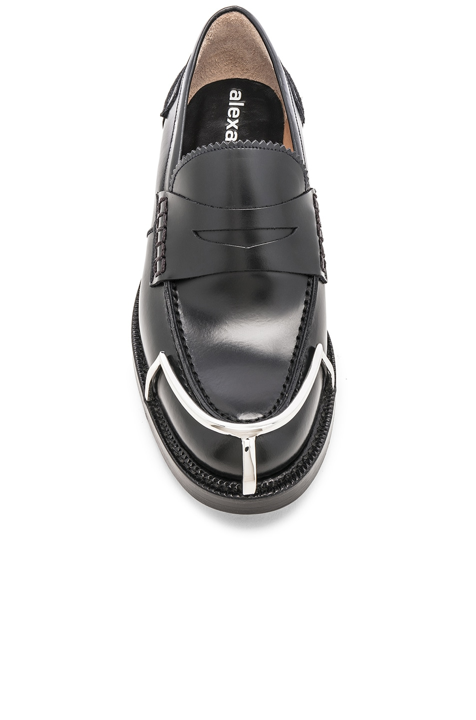 Image 4 of Alexander Wang Carter Spazzolato Loafer in Black