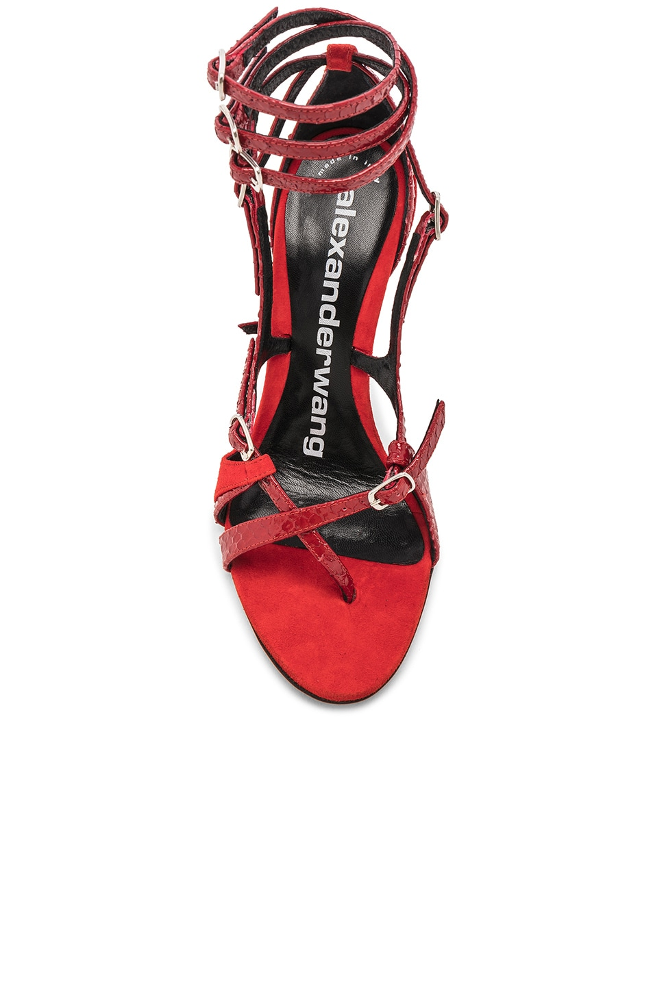 Image 4 of Alexander Wang Kiely Embossed Sandal in Red