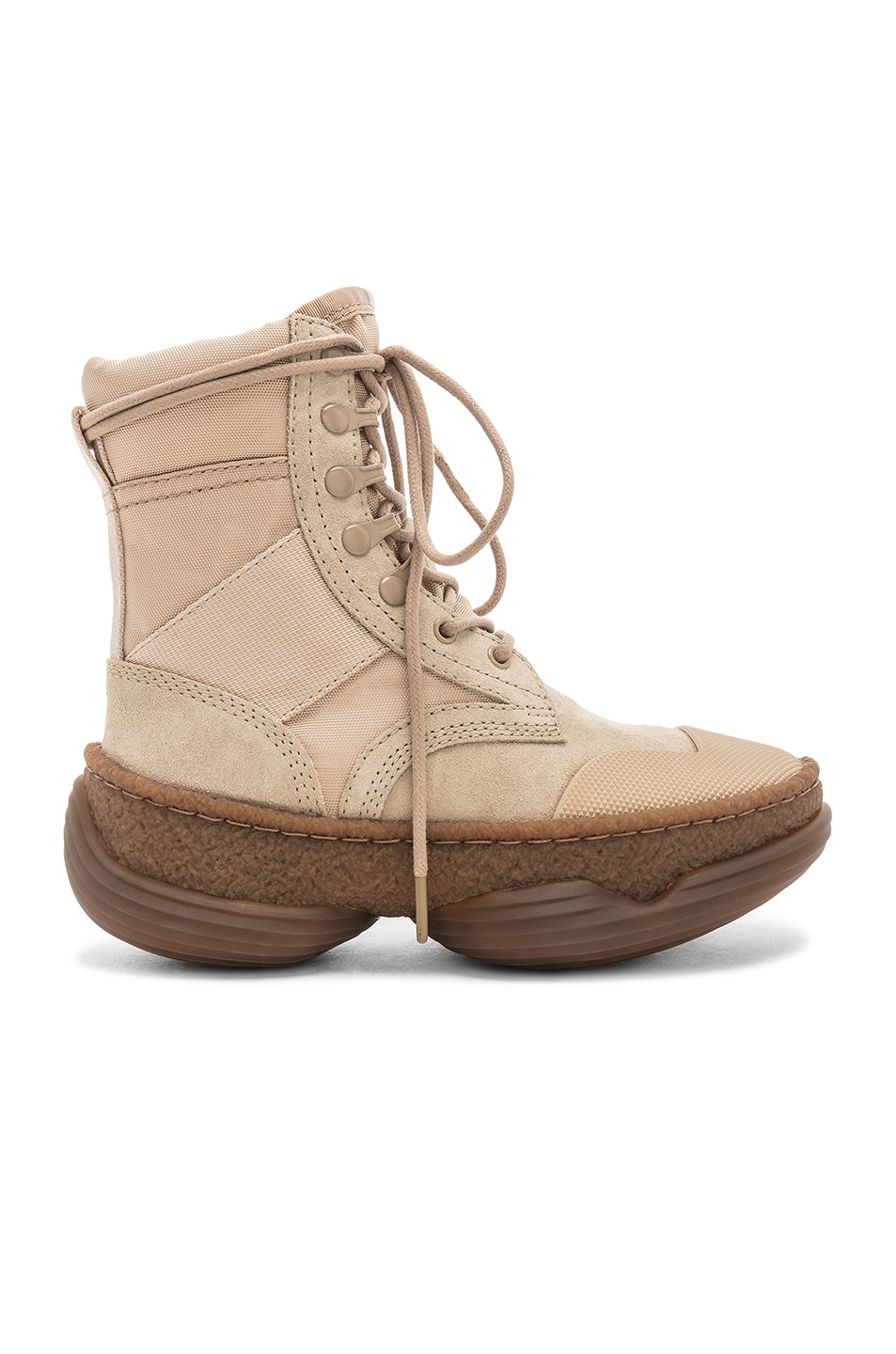 Image 1 of Alexander Wang Suede A1 Combat Boot in Sand