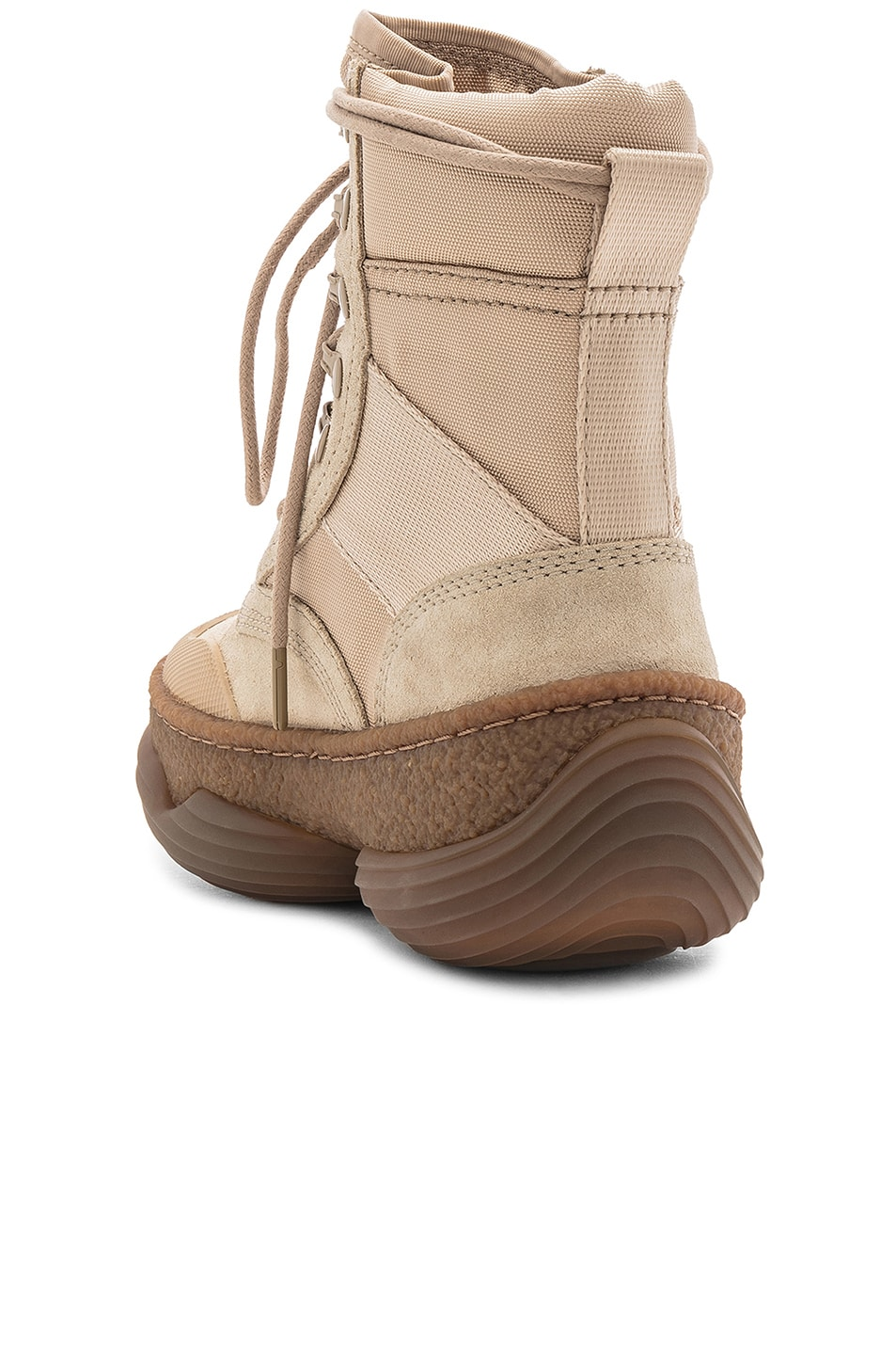 Image 3 of Alexander Wang Suede A1 Combat Boot in Sand