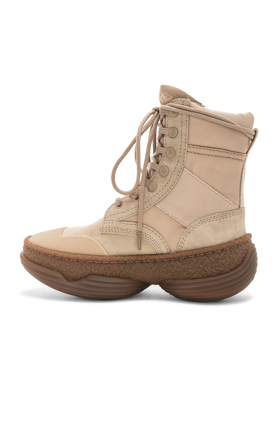 Image 5 of Alexander Wang Suede A1 Combat Boot in Sand
