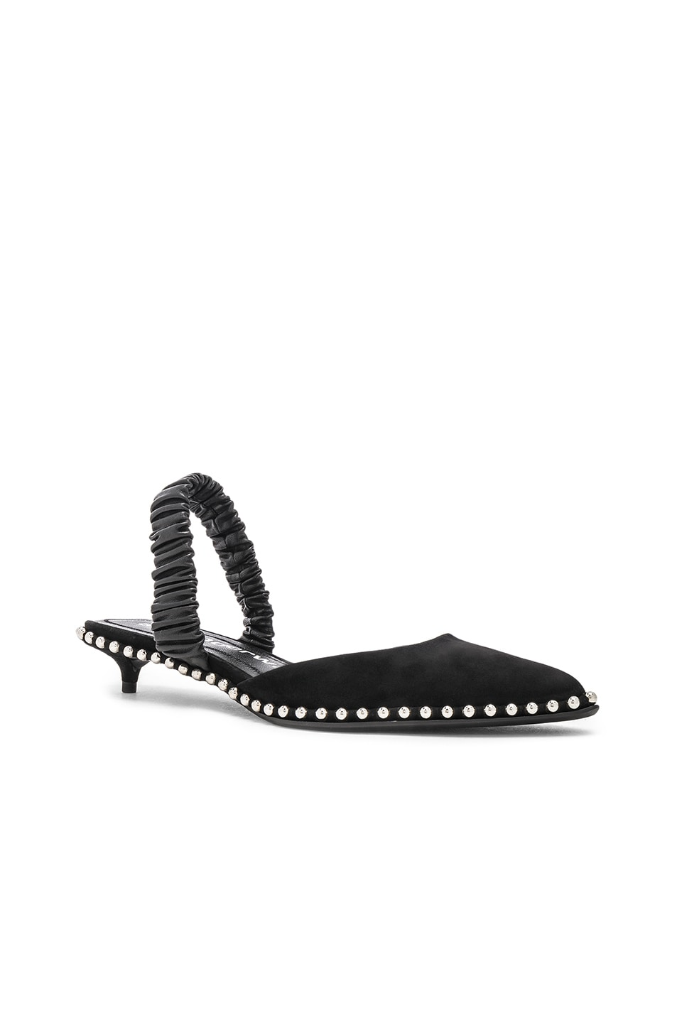 Image 2 of Alexander Wang Nina Kid Suede Heel in Black