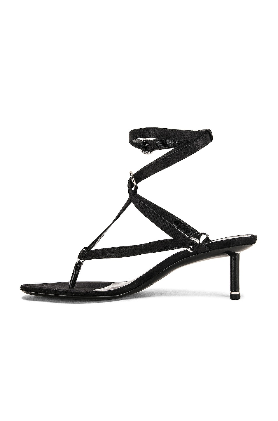Image 5 of Alexander Wang Kit Satin Sandal in Black