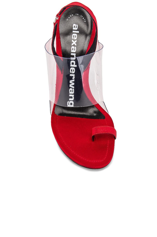 Image 4 of Alexander Wang Kaia Satin Heel in Red