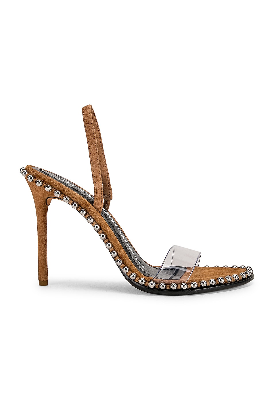 Image 1 of Alexander Wang Nova Suede Heel in Clay