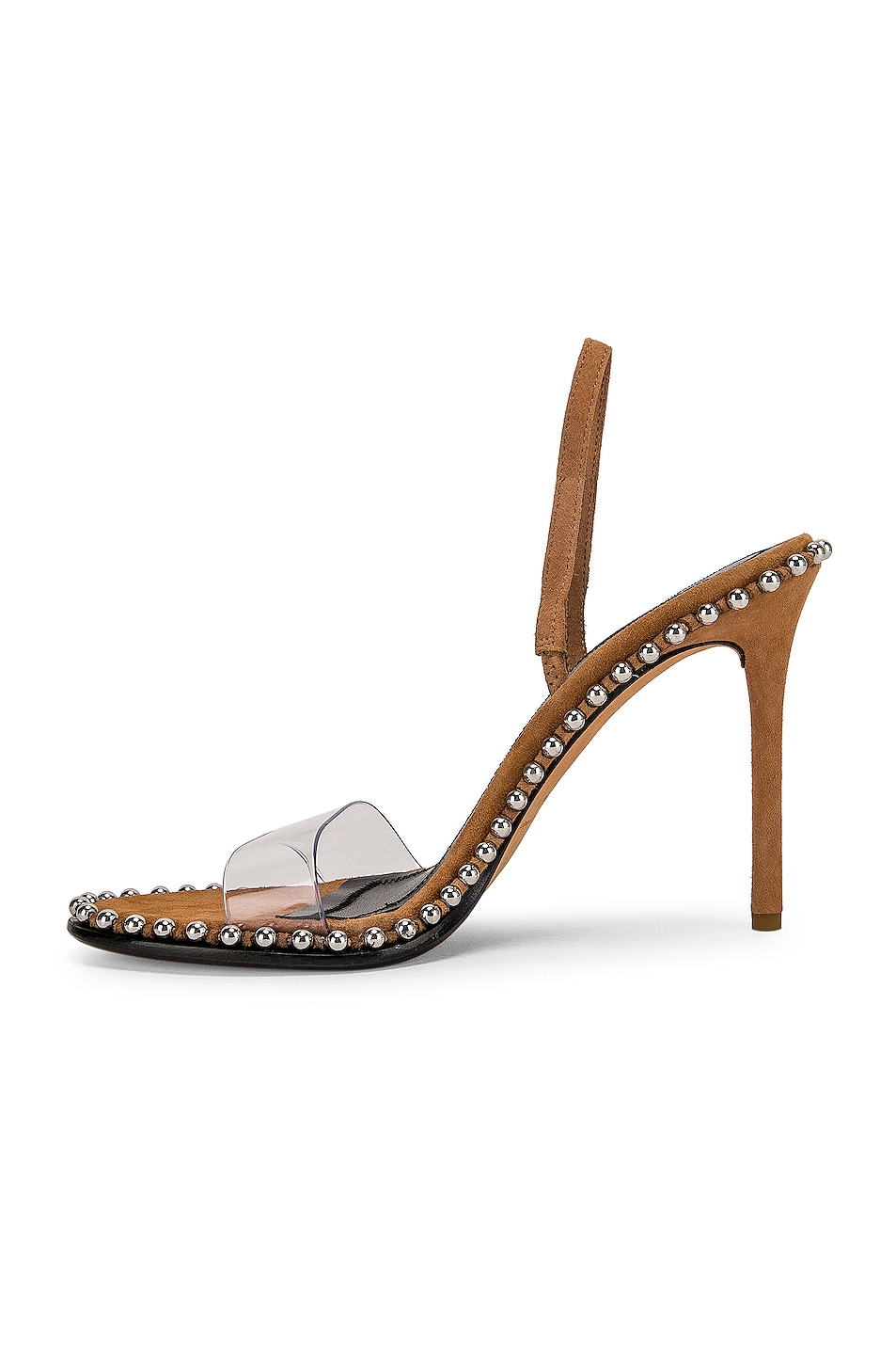 Image 5 of Alexander Wang Nova Suede Heel in Clay