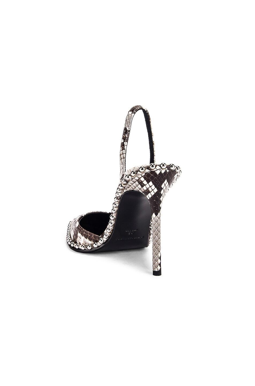Image 3 of Alexander Wang Rina Roccia Snake Heel in Black & White