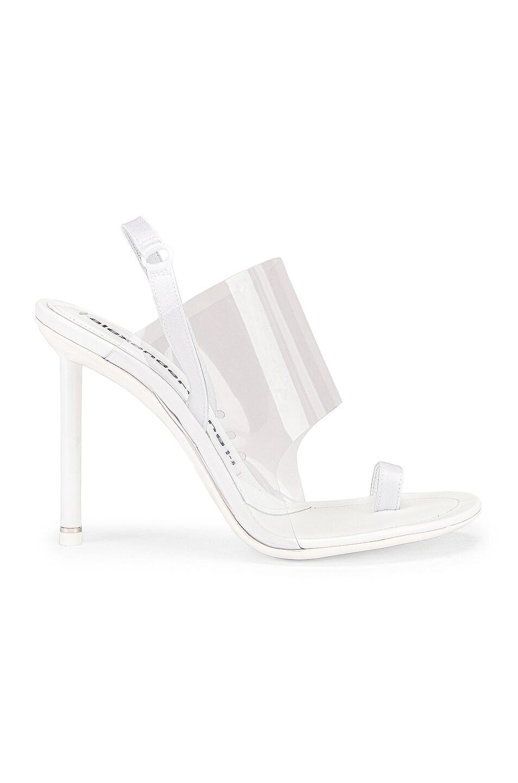 Image 2 of Alexander Wang Kaia PVC Heel in White