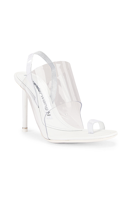 Image 3 of Alexander Wang Kaia PVC Heel in White