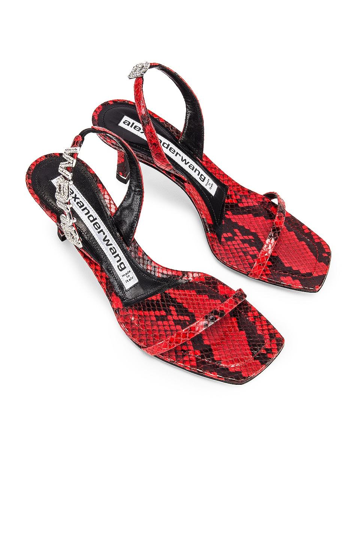 Image 1 of Alexander Wang Ivy Red Snake Print Heel in Red