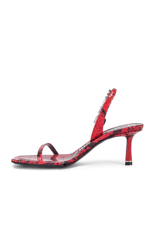 Image 5 of Alexander Wang Ivy Red Snake Print Heel in Red