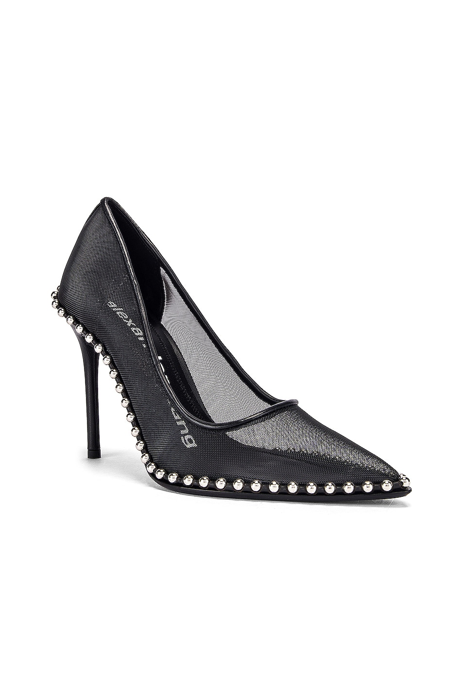 Image 2 of Alexander Wang Rie Mesh Heel in Black