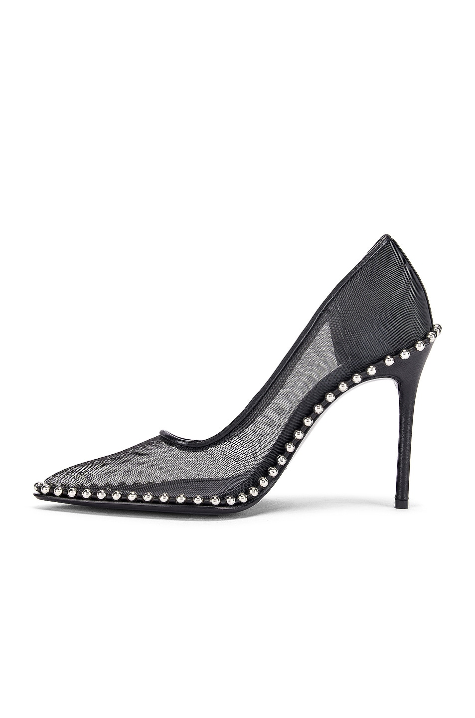 Image 5 of Alexander Wang Rie Mesh Heel in Black