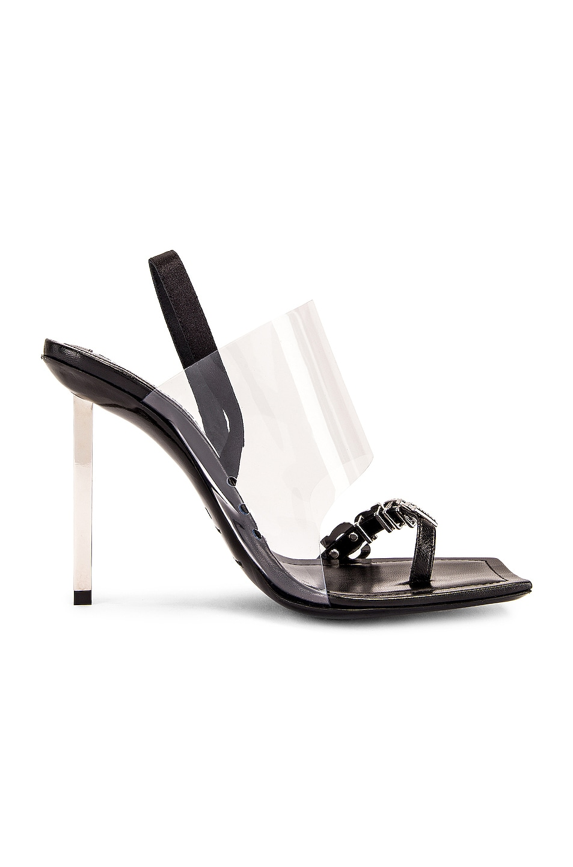 Image 6 of Alexander Wang Kaia Crystal Logo Heel in Black