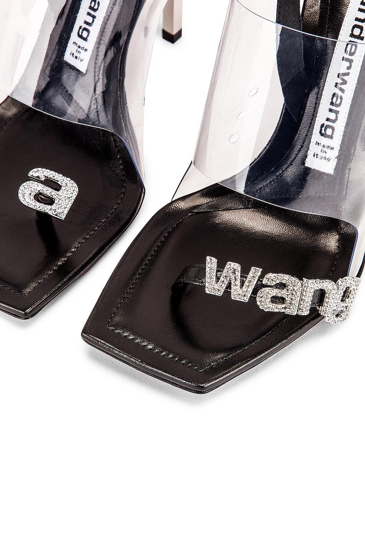 Image 8 of Alexander Wang Kaia Crystal Logo Heel in Black