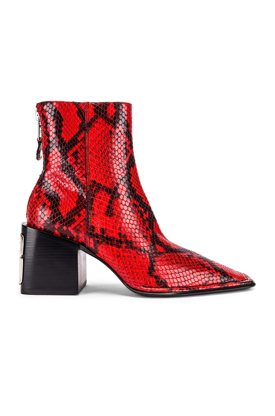 Image 1 of Alexander Wang Parker Snake Print Boot in Red