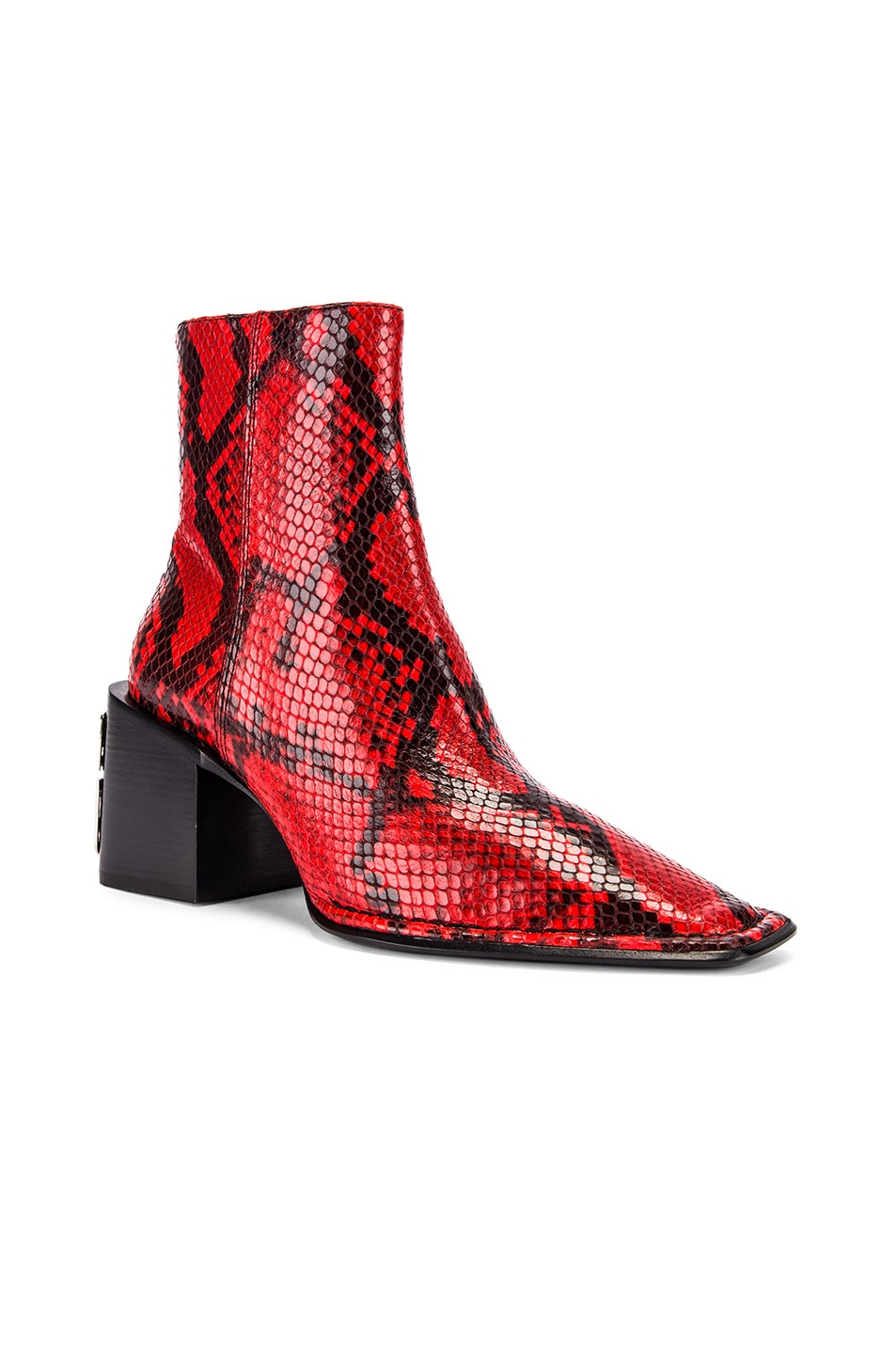 Image 2 of Alexander Wang Parker Snake Print Boot in Red