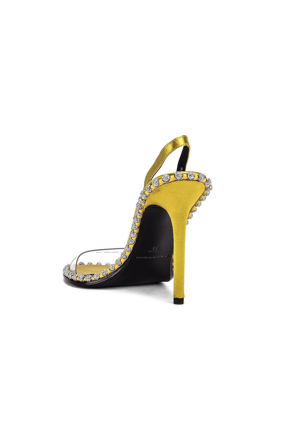 Image 3 of Alexander Wang Nova Crystal Sandal in Chartreuse