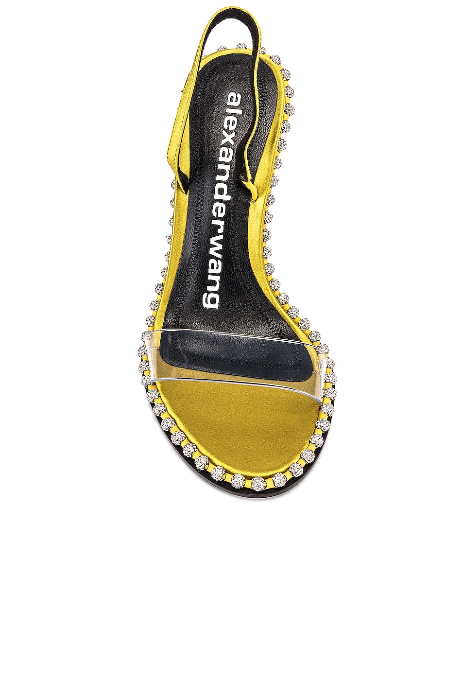 Image 4 of Alexander Wang Nova Crystal Sandal in Chartreuse