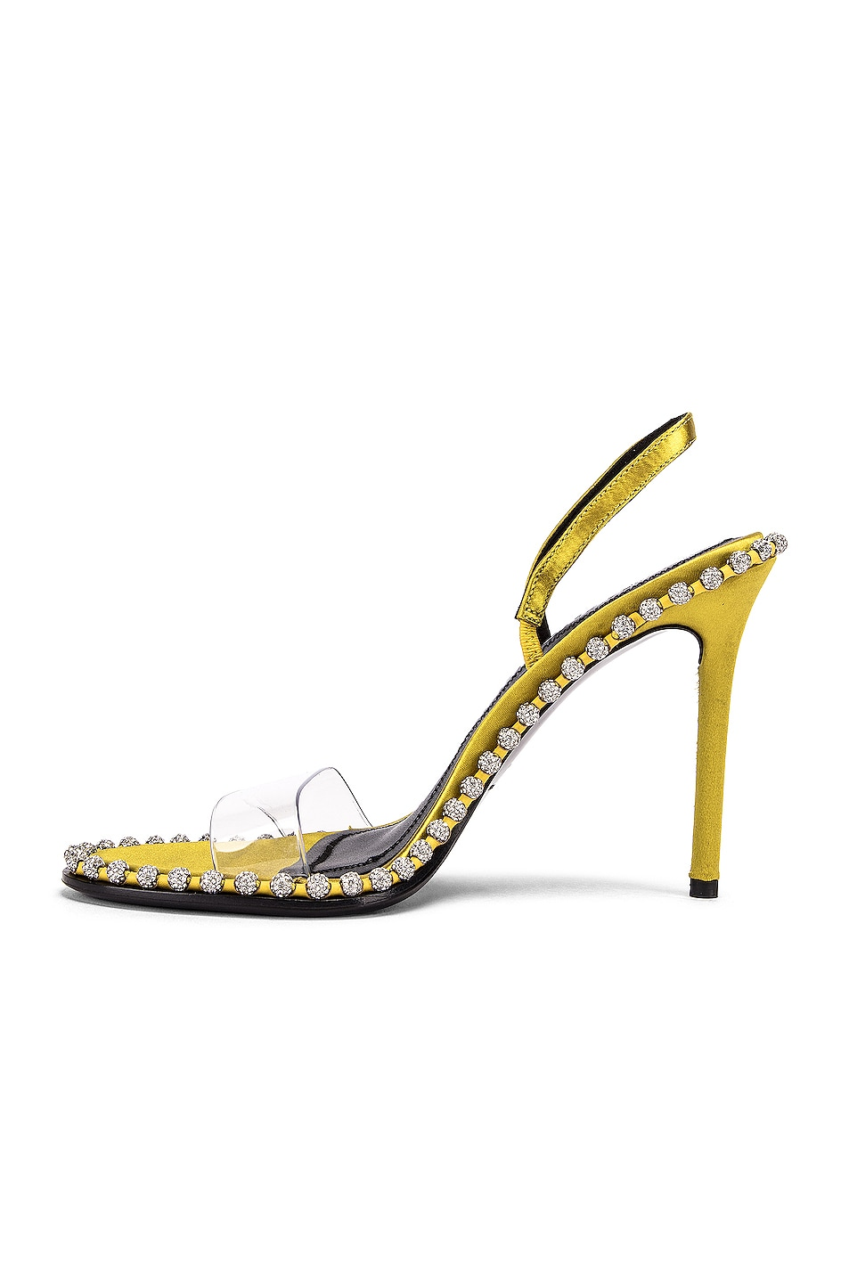 Image 5 of Alexander Wang Nova Crystal Sandal in Chartreuse