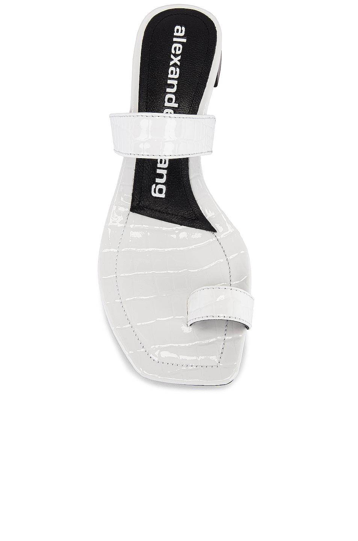 Image 4 of Alexander Wang Ellis Croc Embossed Sandal in White