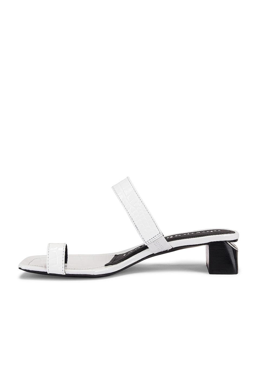 Image 5 of Alexander Wang Ellis Croc Embossed Sandal in White