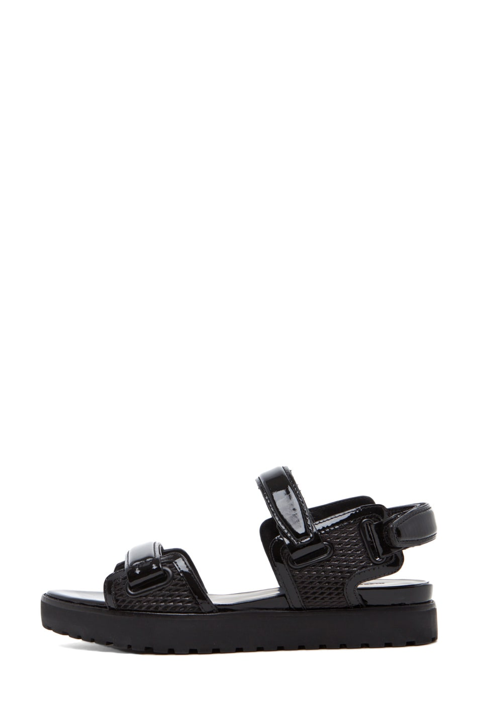 Image 1 of Alexander Wang Karlie Flat Mesh Sandal in Black